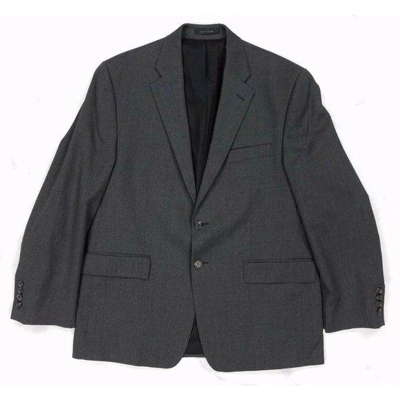 RALPH LAUREN Wool 2 Button Gray Blazer Sport Coat Jacket, Mens 42S